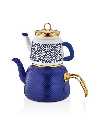 Schafer Glaze Emaye Çaydanlık Renkli